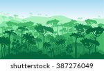vector landscape. jungles and... | Shutterstock .eps vector #387276049