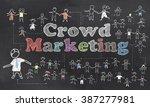 crowd marketing illustration | Shutterstock . vector #387277981