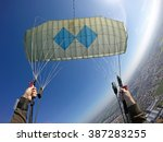 point of view of skydiver... | Shutterstock . vector #387283255
