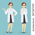 female doctor in different...