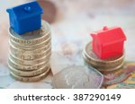 rising house prices | Shutterstock . vector #387290149