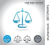 law and justice icon  set ... | Shutterstock .eps vector #387290491