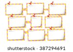 nine abstract text boxes for... | Shutterstock .eps vector #387294691