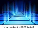 virtual projection. vector... | Shutterstock .eps vector #387296941