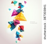 Abstract colorful background with geometric elements | Shutterstock vector #387303841