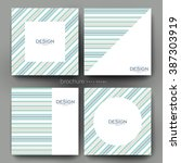 abstract vector brochure... | Shutterstock .eps vector #387303919