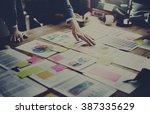 business people meeting design... | Shutterstock . vector #387335629