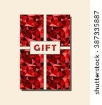 red and beige vector vintage... | Shutterstock .eps vector #387335887