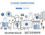 cloud computing data storage... | Shutterstock .eps vector #387359899