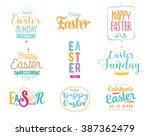 Happy Easter Typography Design...