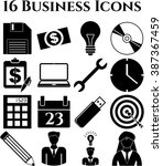 16 businessicon set. quality... | Shutterstock .eps vector #387367459