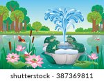 vector illustration of summer... | Shutterstock .eps vector #387369811