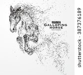 galloping horse particles... | Shutterstock .eps vector #387376189