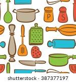 cooking utensil background   Shutterstock . vector #387377197