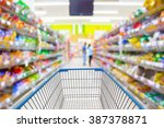shopping cart in supermarket. | Shutterstock . vector #387378871