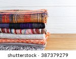 winter fashion clothing with... | Shutterstock . vector #387379279
