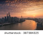 elevated view of shanghai... | Shutterstock . vector #387384325