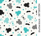 little man seamless pattern.... | Shutterstock .eps vector #387385354