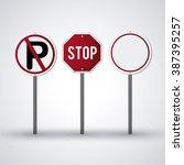 road sign design  | Shutterstock .eps vector #387395257