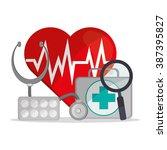 insurance icon design  | Shutterstock .eps vector #387395827