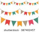 vintage garland | Shutterstock . vector #387402457