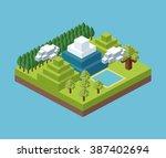 isometric icon design  | Shutterstock .eps vector #387402694