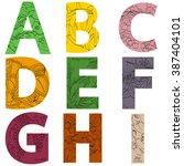 vector set of letters. a  b  c  ... | Shutterstock .eps vector #387404101