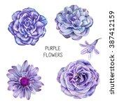 illustration of beautiful blue  ... | Shutterstock . vector #387412159