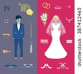 Wedding Set For Bride And Groo...