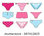set of cute color panties | Shutterstock .eps vector #387412825
