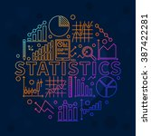 bright statistics illustration  ... | Shutterstock .eps vector #387422281