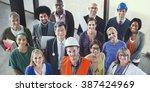 celebrating diverse people... | Shutterstock . vector #387424969