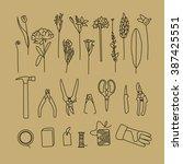gardener tools | Shutterstock .eps vector #387425551
