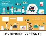 medical care  analisys and... | Shutterstock .eps vector #387432859