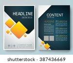 modern flyers brochure cover... | Shutterstock .eps vector #387436669