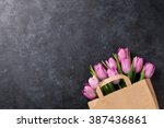 Fresh Pink Tulip Flowers In...