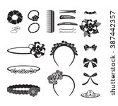 hair accessories object set ... | Shutterstock .eps vector #387442357