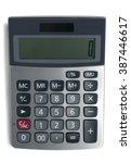 top view of a calculator ... | Shutterstock . vector #387446617