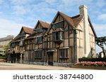 William Shakespeare's Birthplace, Stratford upon Avon - stock photo