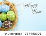 easter card. painted easter... | Shutterstock . vector #387450301