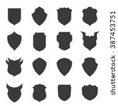 shield icons   crests vector... | Shutterstock .eps vector #387453751