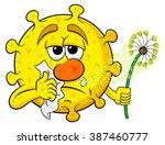 vector illustration of a pollen ...   Shutterstock .eps vector #387460777