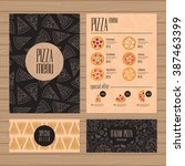 pizza menu design. a4 size and... | Shutterstock .eps vector #387463399