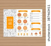 pizza menu design. tri fold... | Shutterstock .eps vector #387463411