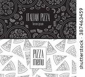 pizza restaurant design with... | Shutterstock .eps vector #387463459