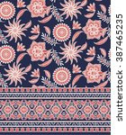 Stock vector floral eastern pattern design 387465235