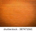 Bright Orange Brick Wall...