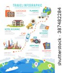 travel web infographic.website... | Shutterstock .eps vector #387482284