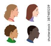 various races women profile... | Shutterstock .eps vector #387485239