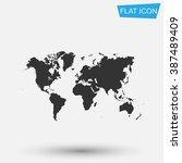 world map icon vector.